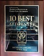 10 Best Attorneys award